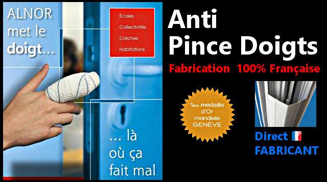 ALNOR met le doigt ... là où ça fait mal >>> Anti pince doigts fabrication 100% française : Direct fabricant - Première médaille d'Or mondiale Genève